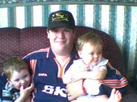 Peter with his children Andrew and Victoria