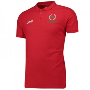 Formula 1 Hungarian Grand Prix 2018 Laurel Leaf Polo - Red
