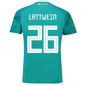 Germany Away Shirt 2018 with Lattwein 26 printing