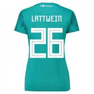 Germany Away Shirt 2018 - Womens with Lattwein 26 printing