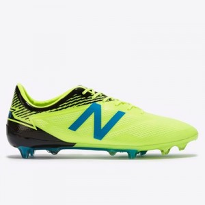New Balance Furon 3.0 Mid Firm Ground Football Boots - Yellow
