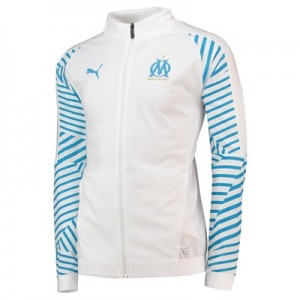 Olympique de Marseille Training Stadium Jacket - White