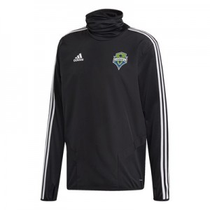 Seattle Sounders Warm Up Top - Black