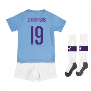 Manchester City Cup Home Mini Kit 2019-20 with Champions 19 printing