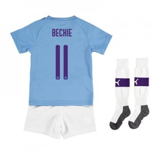 Manchester City Cup Home Mini Kit 2019-20 with BECKIE 11 printing