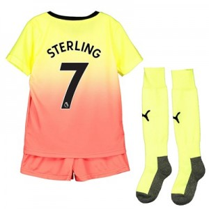 Manchester City Third Mini Kit 2019-20 with Sterling 7 printing
