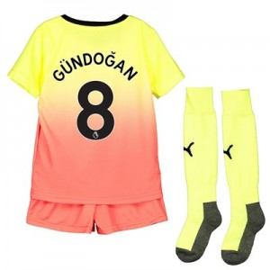 Manchester City Third Mini Kit 2019-20 with Gündogan 8 printing
