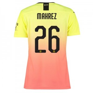 Manchester City Authentic Cup Third Shirt 2019-20 - Womens with Mahrez 26 printing