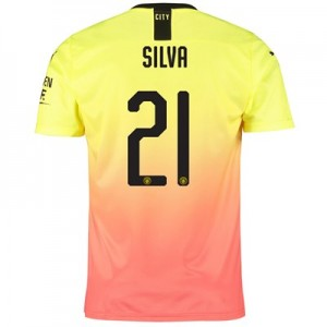 Manchester City Cup Third Shirt 2019-20 with Silva 21 printing