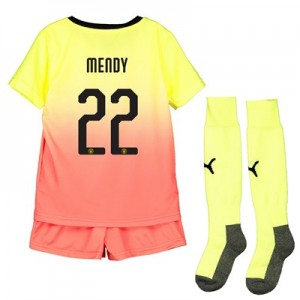 Manchester City Cup Third Mini Kit 2019-20 with Mendy 22 printing
