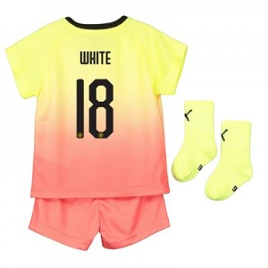 Manchester City Cup Third Baby Kit 2019-20 with White 18 printing