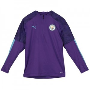 Manchester City 1/4 Zip Training Top - Purple - Kids