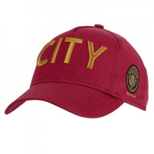 Manchester City Wordmark Core Cap 125 - Maroon - Adult