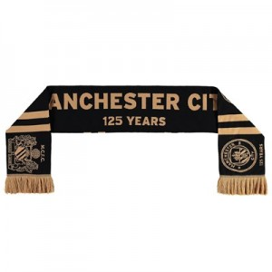 Manchester City 125 Years Scarf - Black - Adult