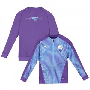 Manchester City Stadium Jacket - Purple - Kids with FaZe Clan Sponsors