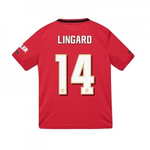 Manchester United Cup Home Shirt 2019 - 20 - Kids with Lingard 14 printing