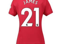 Manchester United Home Shirt 2019 - 20 - Womens with James 21 printing