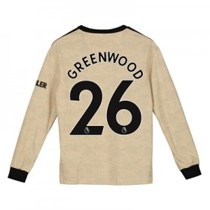 Manchester United Away Shirt 2019 - 20 - Kids - Long Sleeve with Greenwood 26 printing