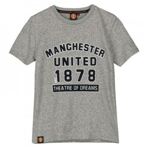Manchester United Core College T-Shirt - Grey - Boys
