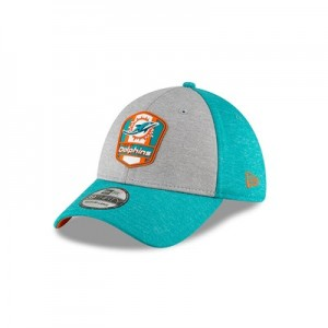 Miami Dolphins New Era Official Sideline Road 39THIRTY Stretch Fit Cap