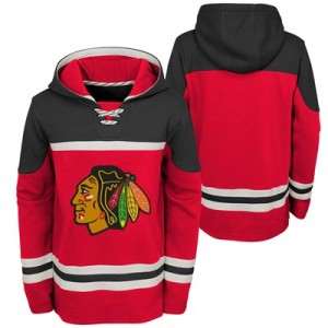 Chicago Blackhawks Asset Pullover Hockey Hoodie - Kids